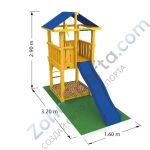 Комплект для сборки Jungle Gym Hut