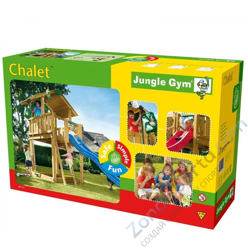 jungle gym chalet. Black Bedroom Furniture Sets. Home Design Ideas