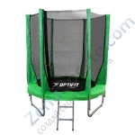 Батут OPTIFIT JUMP 8ft 2,44 м зеленый