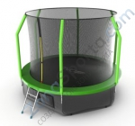 Батут Evo Jump Cosmo 10ft (Green) с нижней сетью