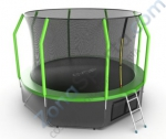 Батут Evo Jump Cosmo 12ft (Green) с нижней сетью