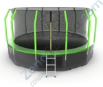 Батут Evo Jump Cosmo 16ft (Green) с нижней сетью