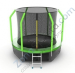 Батут Evo Jump Cosmo 8ft (Green) с нижней сетью